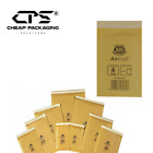 Genuine Jiffy Gold Bubble Lined Envelopes Mailers by CPS - Multi Size - 25 Pcs