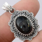 Filigree - Natural Nuummite 925 Sterling Silver Pendant Jewelry 4909
