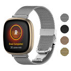 StrapsCo Stainless Steel Mesh Watch Band Strap for Fitbit Sense