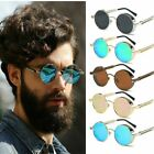Vintage Retro Steampunk Sunglasses Goggles Classic Round Mirror Eyewear Glasses