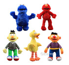 Sesame Street Plush Doll Ernie Bert Elmo Cookie Monster Big Bird Soft Toy Gift