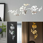 3d Mirror Flower Wall Sticker Decal Diy Home Room Art Mural Decoration Removable