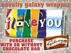 Valentines Day I LOVE YOU Chocolate Bar Wrapper Novelty Valentine Gift Birthday