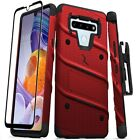 For LG Stylo 6 Bolt Series Hybrid Case with Tempered Glass, Kickstand & Holster