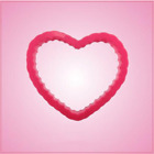 Pink Heart Scalloped Cookie Cutter Party Celebration Sweet Baking Treats Biscuit