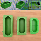 Plastic Green Food Water Bowl Cups Parrot Bird Pigeons Cage Cup Feeding Feede AP