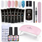 MAD DOLL 14Pcs Building UV Gel Nail Polish Extension Set Kit 6W Nail Dryer Lamp