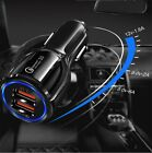 2 Port Fast USB Car Charger 3.0 Dual USB For Samsung iPhone Android Cell Phone.