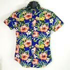 Denim & Flower Ricky Singh Men's Floral Print Shirt Hawaiian Tropical Print NWT