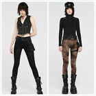 Women's Gothic Punk Steampunk Leggings With Detachable Waistbag Slim Trousers
