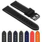 StrapsCo Silicone Rubber Strap with Contrast Stitching for Samsung Gear Sport