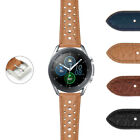 DASSARI Perforated Leather Rally Watch Band Strap for Samsung Galaxy Watch 3