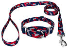 Country Brook Petz® Navy Blue and Red Camo Martingale Dog Collar and Leash