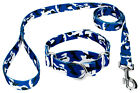 Country Brook Petz® Royal Blue and White Camo Martingale Dog Collar and Leash