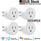 Smart Plug Wifi Switch Socket Outlet Compatible with Alexa Google Assistant US