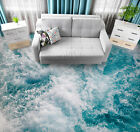 3D White Sea Waves 167 Floor WallPaper Murals Wall Print Decal UK Zoe