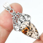 Natural Montana Agate - USA 925 Sterling Silver Pendant Jewelry 8723