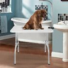 """Adjustable 35"""" Foldable Pet Dog Cat Grooming Table with Adjustable Arm & Noose"""