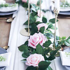 8ft Artificial Faux Flower Silk Rose Leaf Garland Vine Ivy Home Party Decor Hm