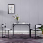 3 Piece Dining Table Set W/2 Chairs Wooden Kitchen Breakfast Bar  Room