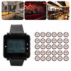 Wireless Watch Waiter Calling Paging Queue System 30 Coasters Pager Restaurant