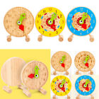 Wooden Clock Teaching Aid Tell the Time Number  Shape Game Toys for Kids