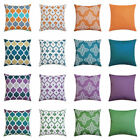 "Uk 16"" 18"" 20"" 24"" Waterproof Cushion Cover Pillow Case Throw Outdoor Home Decor"