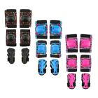 3Pairs Protective Gear Set for Youth Kids Adult Knee Pads Elbow Pads Wrist