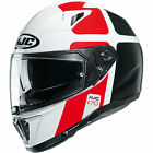 HJC i70 Prika Motorbike Motorcycle Full Face Helmet - Red