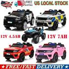 12V Electric Kids Police Ride On SUV Toy Car Remote Control LED  Music  Horn