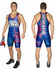 Cliff Keen USA Freestyle Blue Singlet