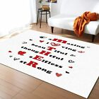 Rugs Mother's Day Love Heart Area Rug For Bedroom Living Room Home Decoration