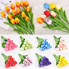 10x Artificial Tulip Flowers False Fake Bouquet Real Touch Home Wedding Decor