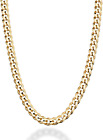 Miabella Solid 18K Gold Over Sterling Silver Italian 5Mm Diamond-Cut Cuban Link