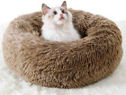 Awolf Marshmallow Cat Bed, Pet Beds Cozy Fur Donut Cuddler Round Warm Bed Improv