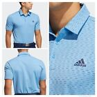 Adidas Golf Men's Ultimate Space Dye Striped Polo Shirt- Blue/navy/white