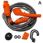 Portable Outdoor Shower Kit 12V Handheld Camping Showers with Water Pump Cable~