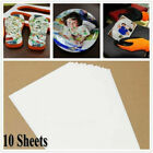 20x Sheets A4 T-Shirt Heat Transfer Paper For Light Fabrics Printer Photo Paper