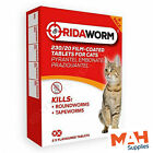 Ridaworm Cat Worming Tablets Multiwormer Roundworm Tapeworm