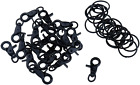 Mironey Black Lobster Claw Clasps 20Set Swivel Trigger Clips Snap Hooks With Key