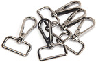 Jwbiz 12 Pcs D Ring Swivel Lobster Claw Clasp, Push Gate Snap Hooks Trigger Clip