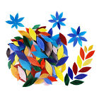 200 Pieces Mosaic Tiles Stained Glass Garden Seat Table Pots Decoration
