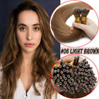 Ombre 100% Remy Human Hair Extensions Nano Ring With Beads Keratin Hidden Link E