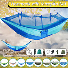 Portable Camping Hammock with Mosquito Net Hanging Swing Hammock Bed Outdoor USA