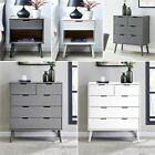 ALMA Grey White Chest of Drawers Draws Bedside Table Cupboard Modern Bedroom Set