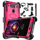 For LG X Charge/X Power 2/Fiesta LTE Rugged Hybrid Case Holster Cover+Accessory