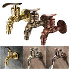Garden Balcony Wall Mount Bibcock Home Bathroom Faucet Lavatory Washer Tap
