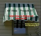Window Awning 4' Retractable W/Hardware  Free UPS Grd