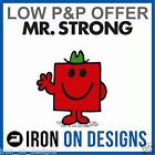 IRON ON T-SHIRT TRANSFER MR MEN LAZY RUDE STRONG TICKLE