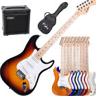"""39"""" Kalos Full Size Electric Guitar Pack W/ 15w Amp +Lesson Book"""